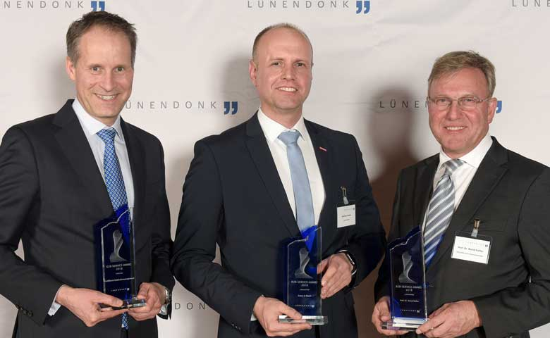 Die Preisträger der Business-to-Business-Service-Awards 2018
